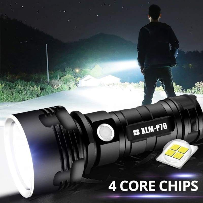 NEW Powerful LED Flashlight XHP50 Torch USB Rechargeable Waterproof Lamp Ultra Bright