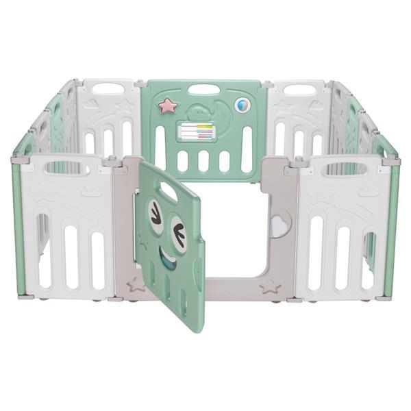 Foldable Baby 14 Panel Playpen Activity Safety Play Yards Fence [Delivery in 5-10 days]