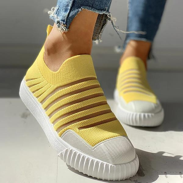 Twinklemoda Hollow Out Patchwork Casual Sneakers
