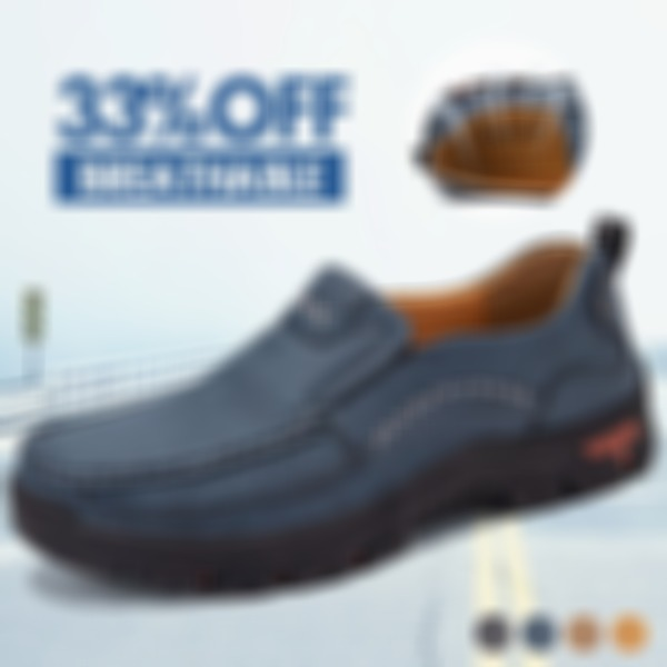 Men's Hand Sitching Breathable Retro Comfy Slip-on Casual Shoes