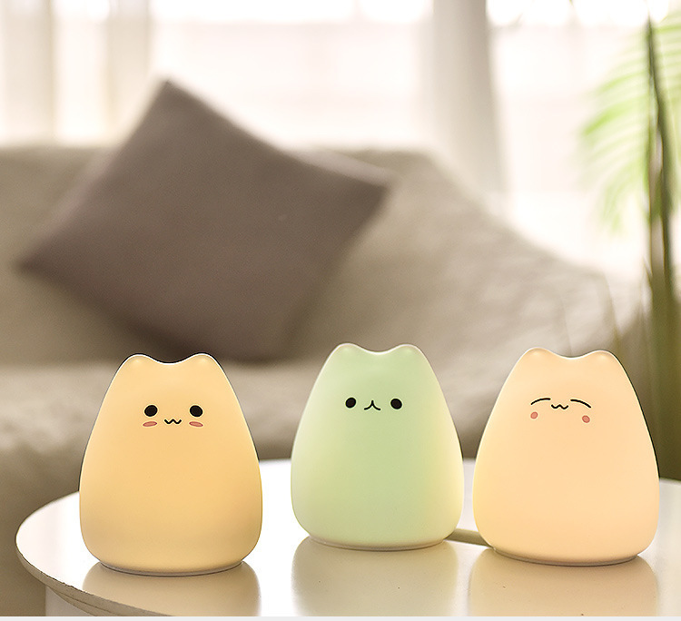 Little Cute Cat Silicone LED Light