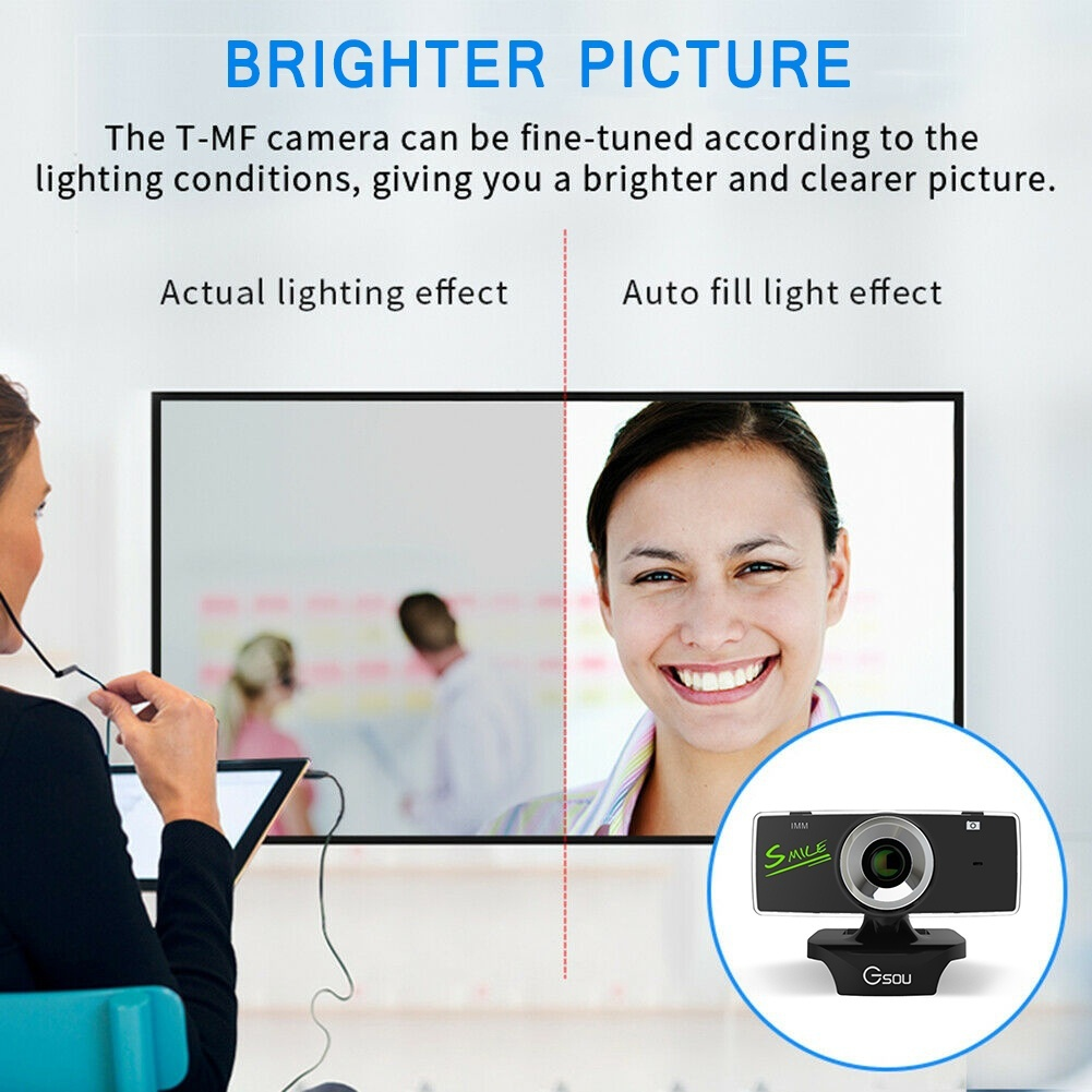 2020 New HD Webcam 1080P With Microphone PC Laptop Desktop USB Webcams Pro Streaming Computer Camera