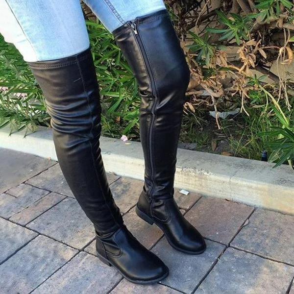 Zoeyootd Trendy Over The Knee Long Boots