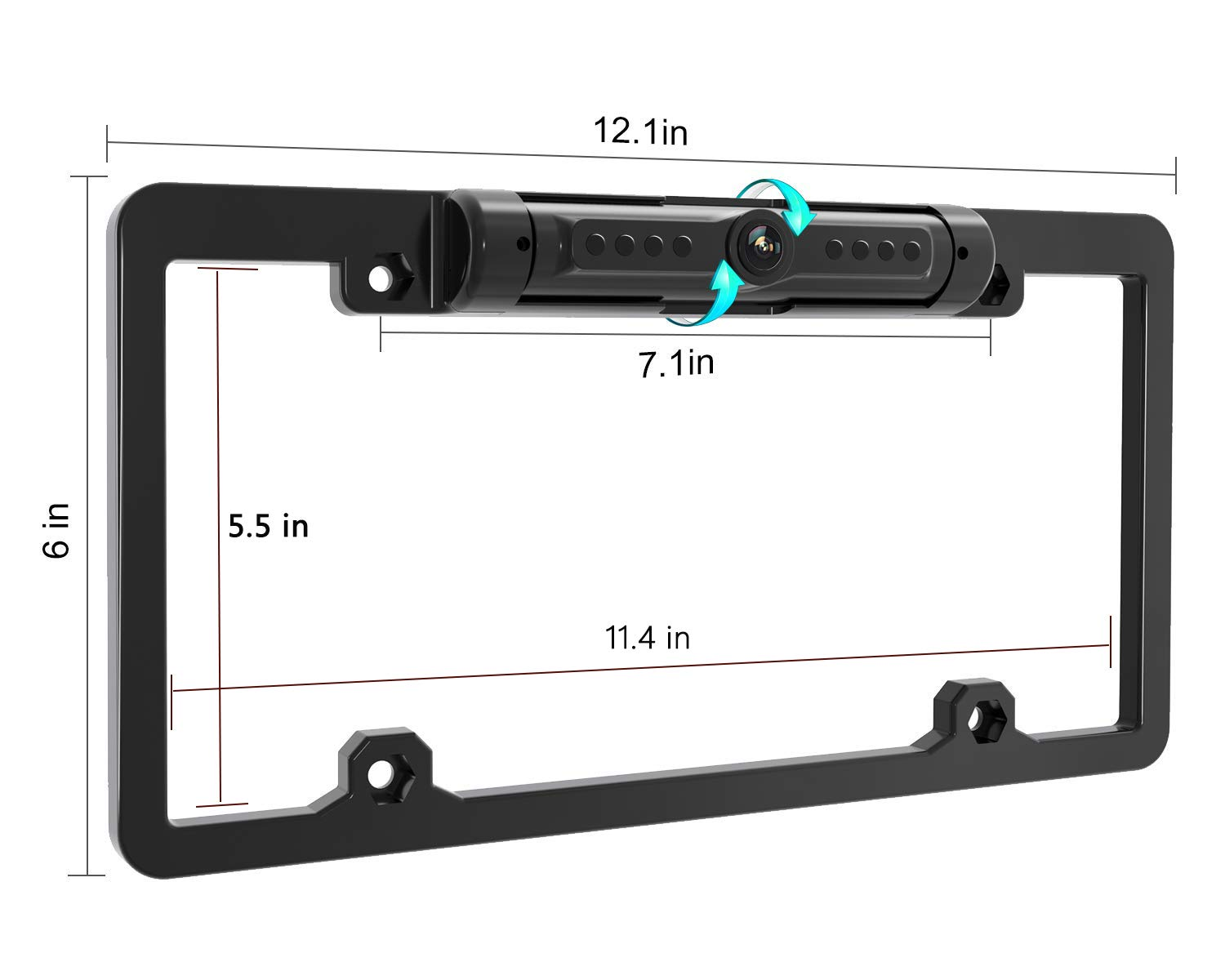 【50% OFF TODAY】License Plate IR Car Rear View Backup Camera