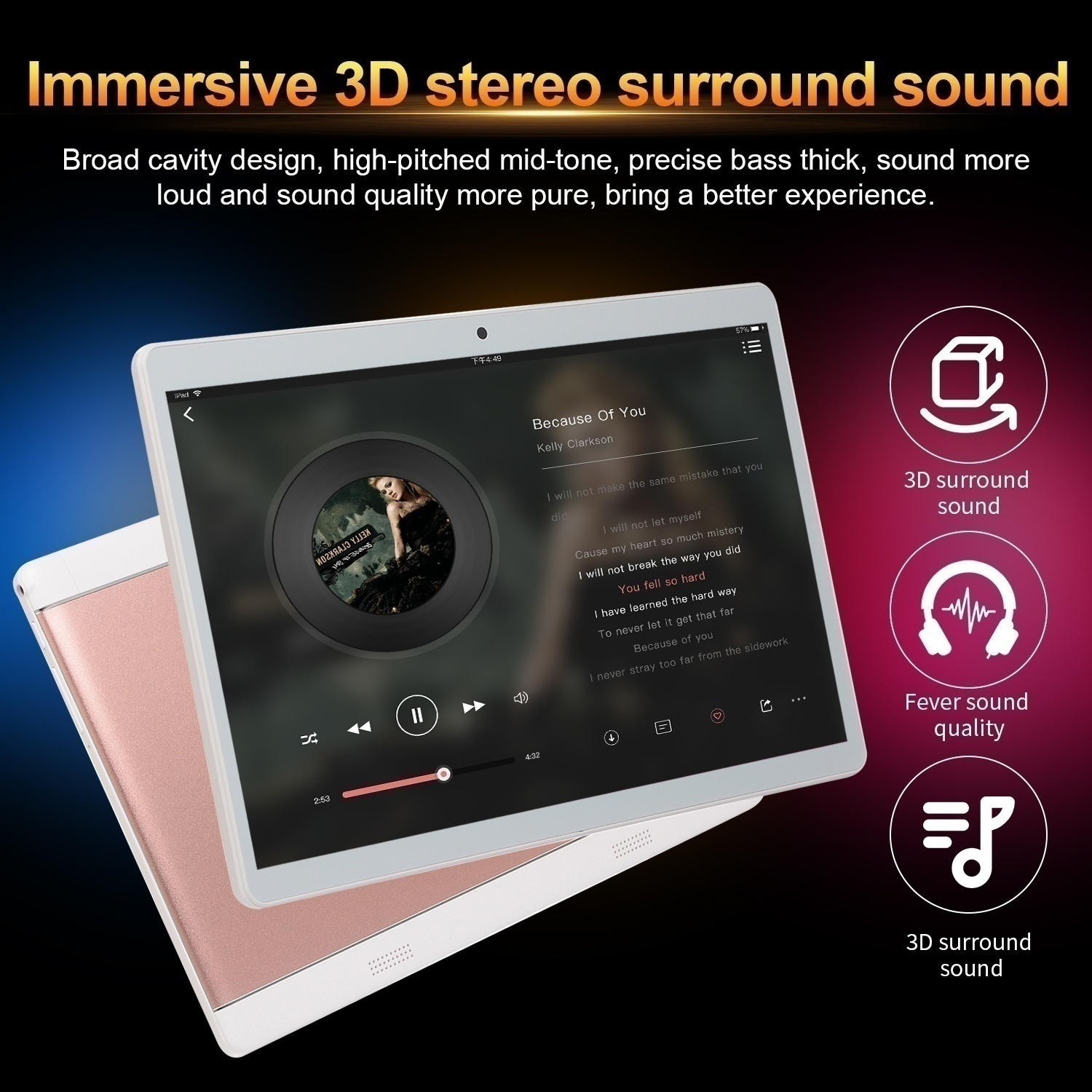 In 2020 the latest version of the high clear plate computer 10.1 Inch 8GB+512GB Tablet MT6797 4G Dual SIM Card Phone pad  4G Call Wifi Tablets PC pad
