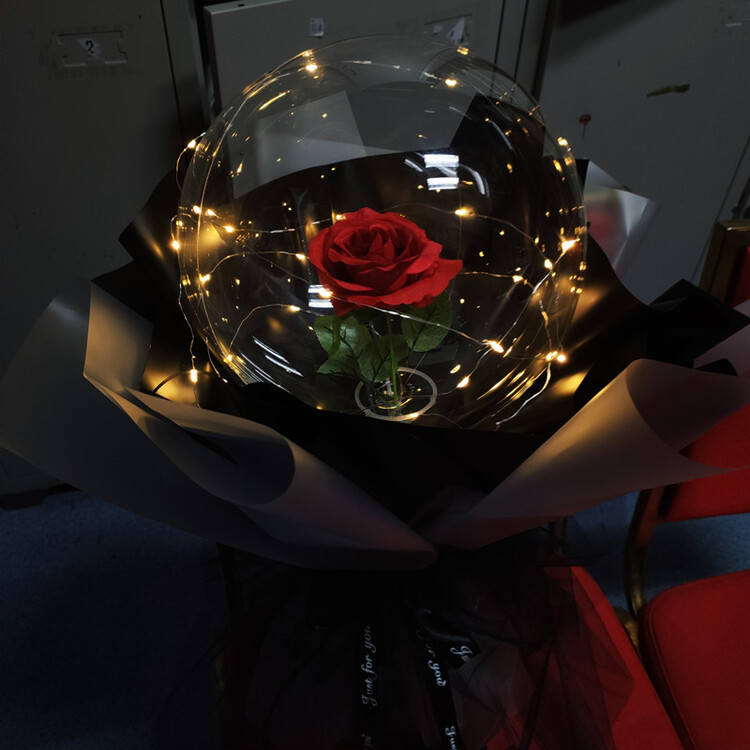 LED Luminous Balloon Rose Bouquet - RED ROSE