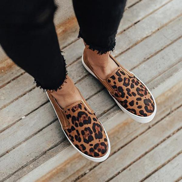 Zoeyootd Women Fashion Printed Flat Sneakers