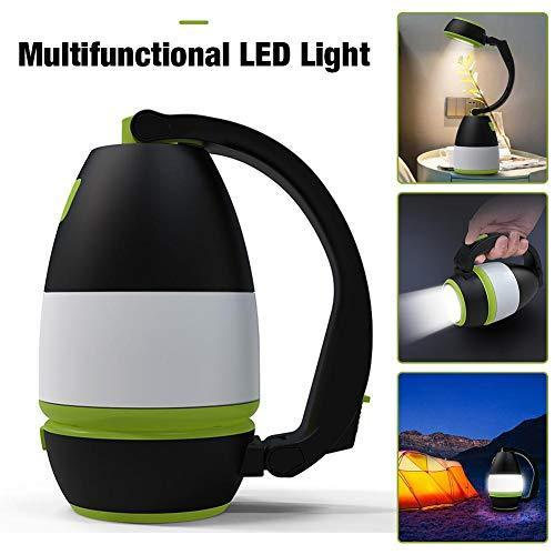3 In 1 USB LED Tent Lamp Rechargeable Portable Lanterns