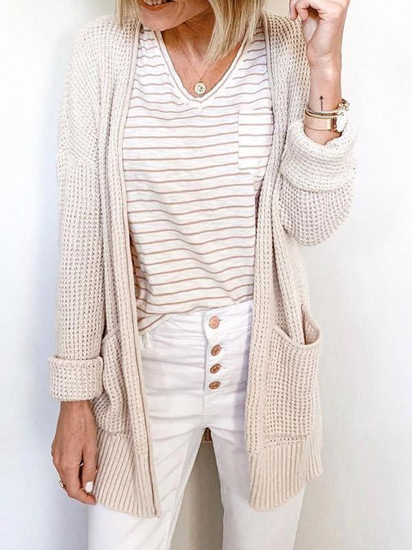 Bonnieshoes Irregular Thick Wool Knitted Cardigan