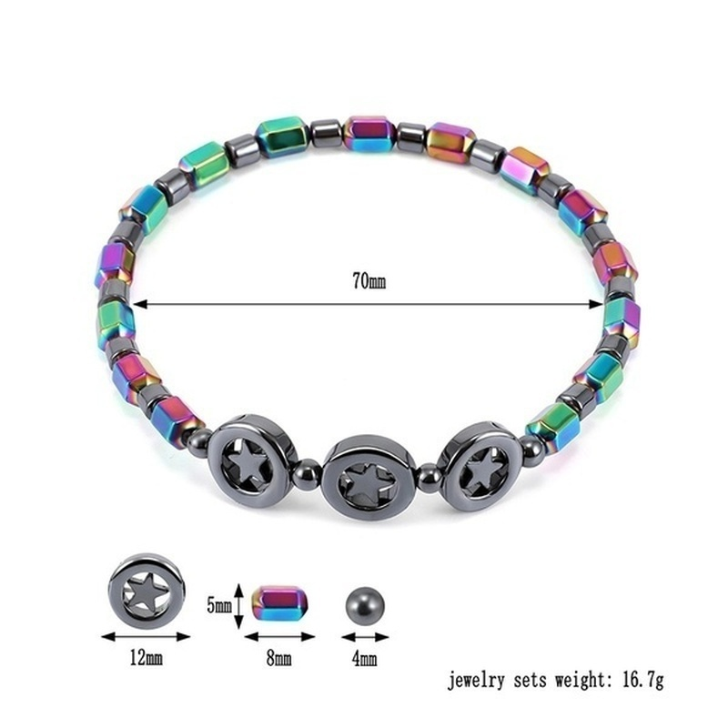 Vintage Black Magnetic Therapy Anklet Beads Foot Chain Healthy Weight Loss Ankle Bracelet Unisex Jewelry