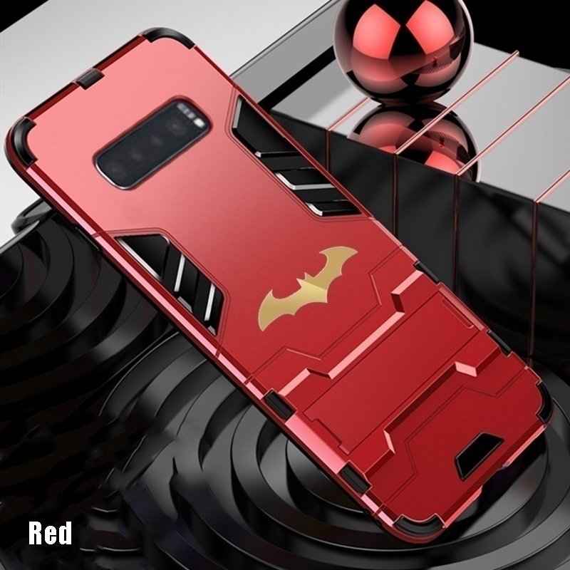 Luxury Soft Silicone + Hard Armor Shockproof Dustproof Phone Case Batman Stand Cover Case for Redmi Note 9s / Redmi Note 9 Pro / Redmi Note 8 Pro / Redmi Note 8T / Redmi Note 7 / Redmi 8 / Xiaomi 10