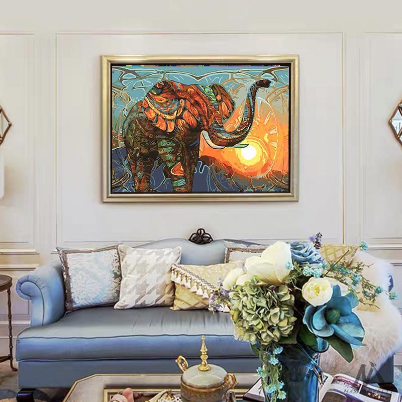 DIY Painting By Numbers - Vintage Elephant (16