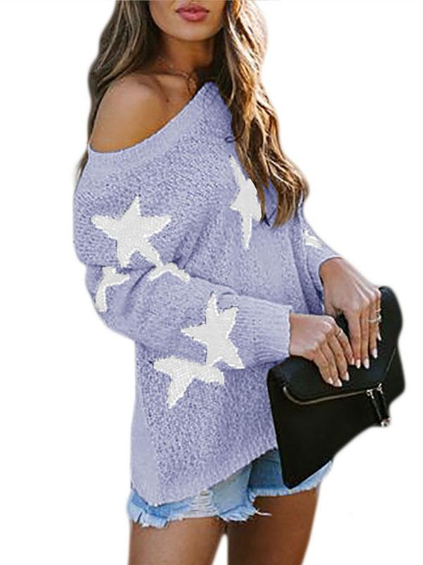 Bonnieshoes Cute Star Pattern Sweater