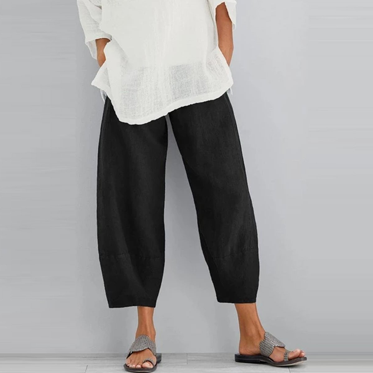 2020 New Arrival Solid Casual Side Pockets Pants