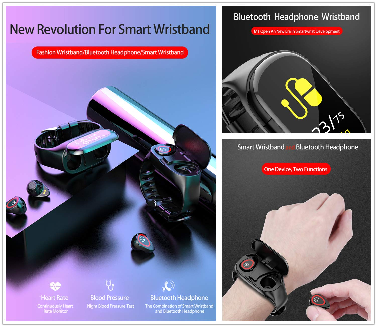 【Christmas Promotion-50% OFF】Smart Watch with Bluetooth Earphone--FREE SHIPPING