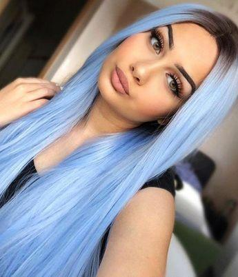 Blue Wigs Lace Frontal Best Hair Color For Blue Eyes And Fair Skin Loverlywigs