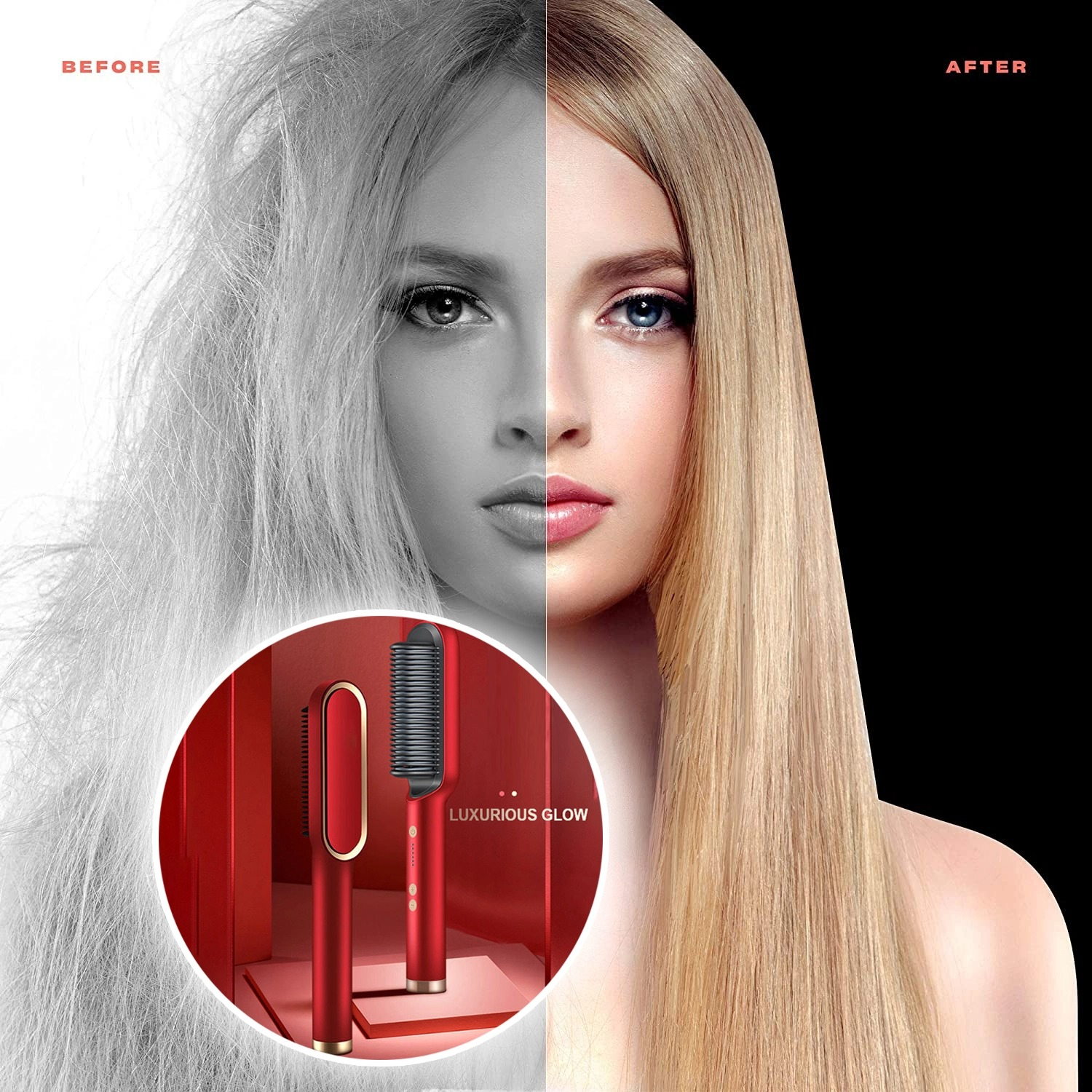 K•skin--2021 New professional Electric Hair Straightener & Curler(Buy 2 get free shipping)