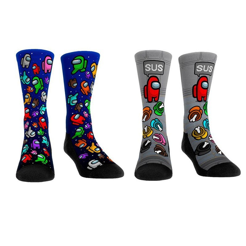 Hot Game Among Us Print Stockings Socks Funny Crew Socks For Men Women