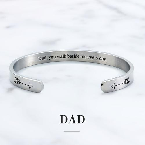 👼Dad, You Walk Beside Me Every Day Cuff Bracelet👼