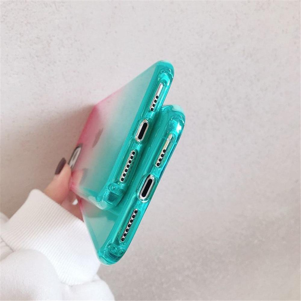 Shockproof Gradient Transparent Case