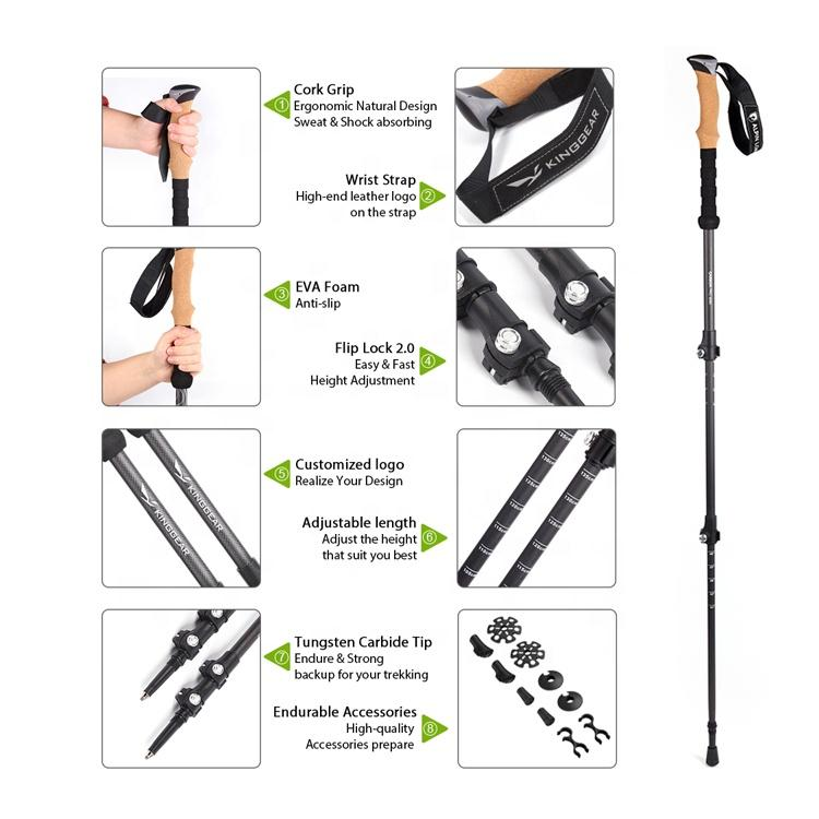 3-section Telescopic Ultra-strong Trekking Poles