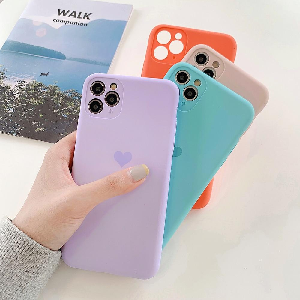 Candy Color Love Heart Case