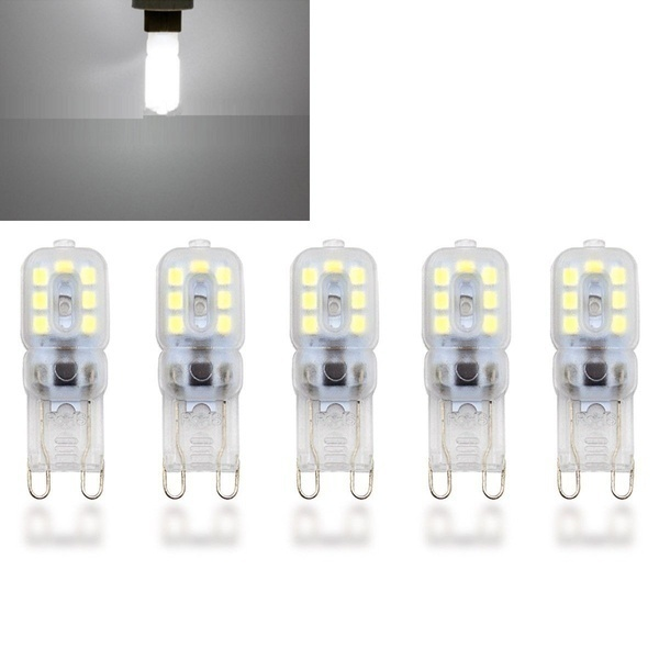 5/10pcs Dimmable G9 3W/5W Silicone Crystal LED Corn Bulb SpotLight White Lamp AC 220V