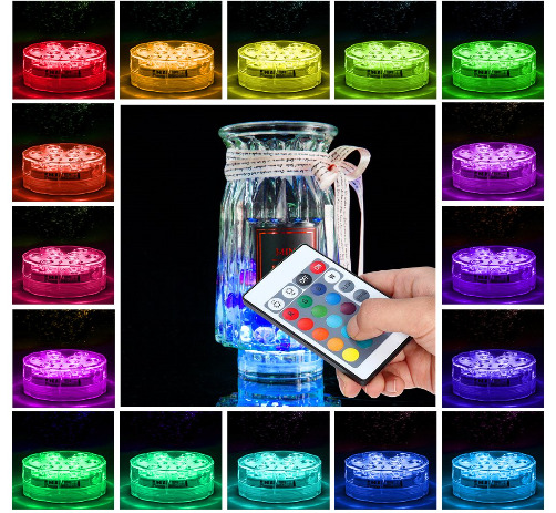Wireless remote LED diving lamp IP68 fountain underwater swimming pool lighting RGB waterproof aquarium led underwater light 16colors 13leds bulb colourful infrared control