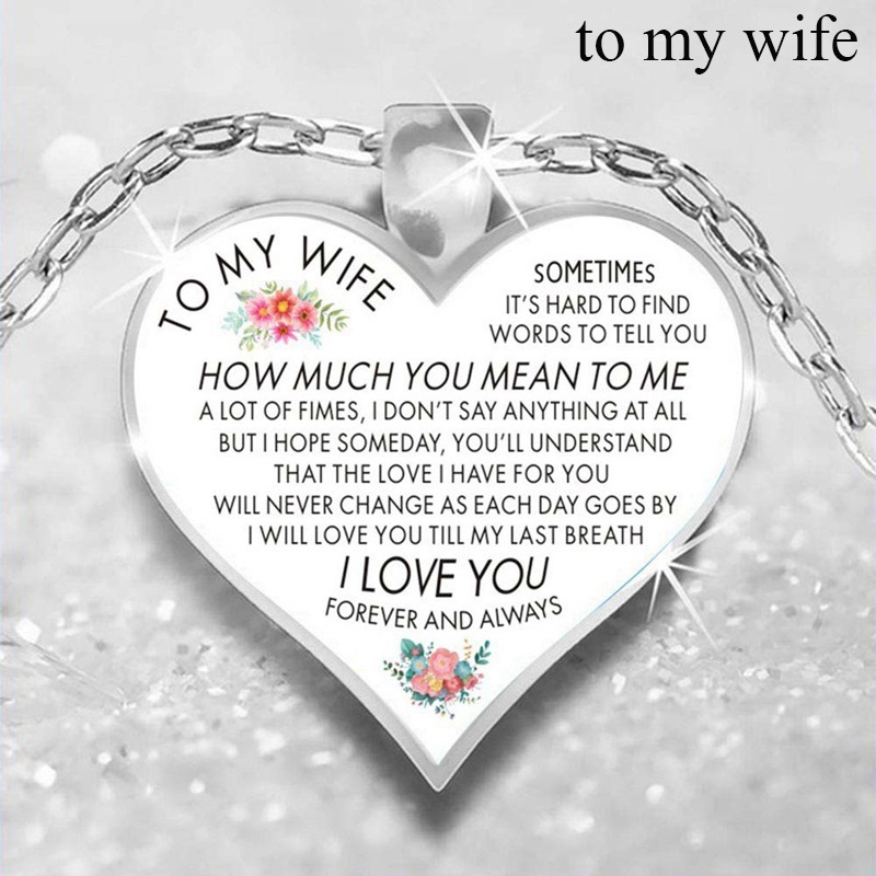 To My Son Daughter From Mom Dad Heart Rose Cabochon Glass Pendant Necklace I Love You Family Necklace Jewelry Christmas Birthday Graduation Gifts