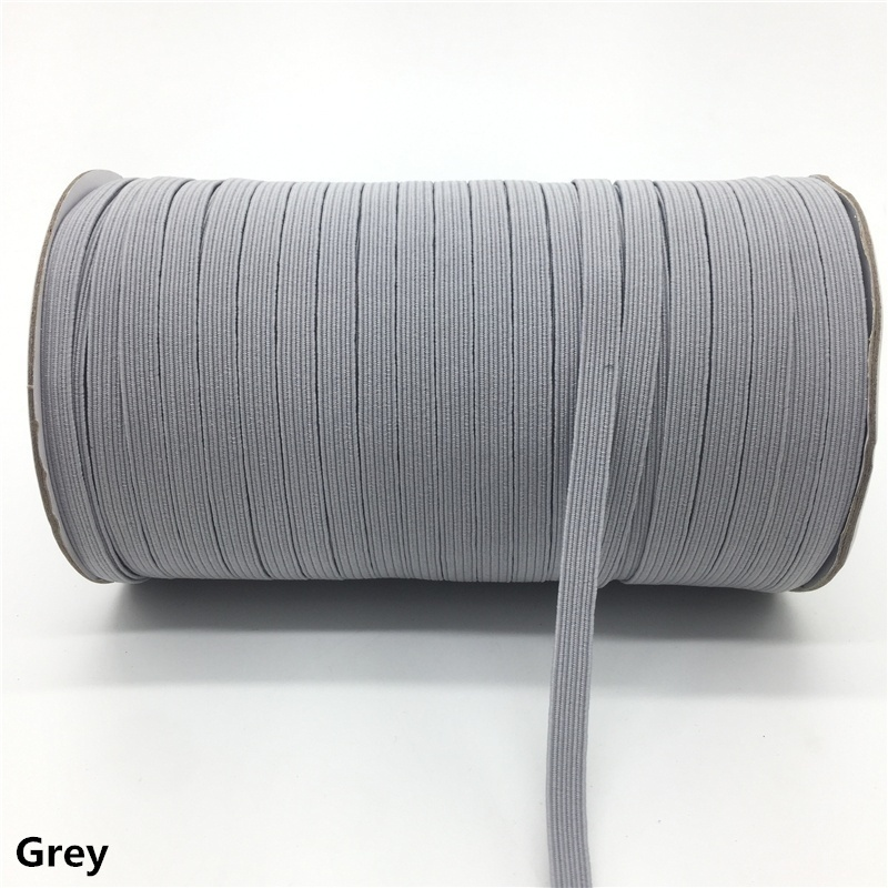 NEW 5yards 6mm Hight-Elastic Bands Spool Sewing Band Flat Elastic Cord Diy Handmade Sewing Crafts