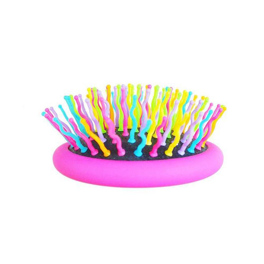 Luna Portable Volume Rainbow Detangling Hair Comb with Mirror