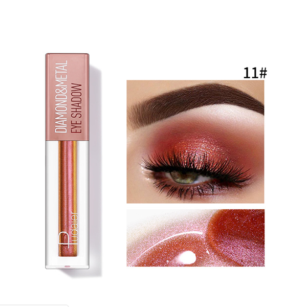 2020 new year 12 Color Metals Glitter and Glow Liquid Eyeshadow