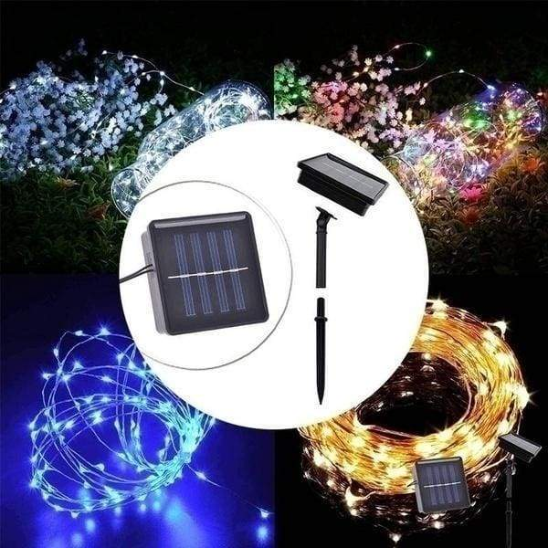 3/5/10/15/20M 30/50/100/150/200LEDs USB/Solar String Lights 8 Modes Solar Powered Copper Wire Fairy Lights IP65 Waterproof Indoor Outdoor Lighting for Home, Garden, Party, Path, Lawn, Wedding, Christmas, DIY Decoration