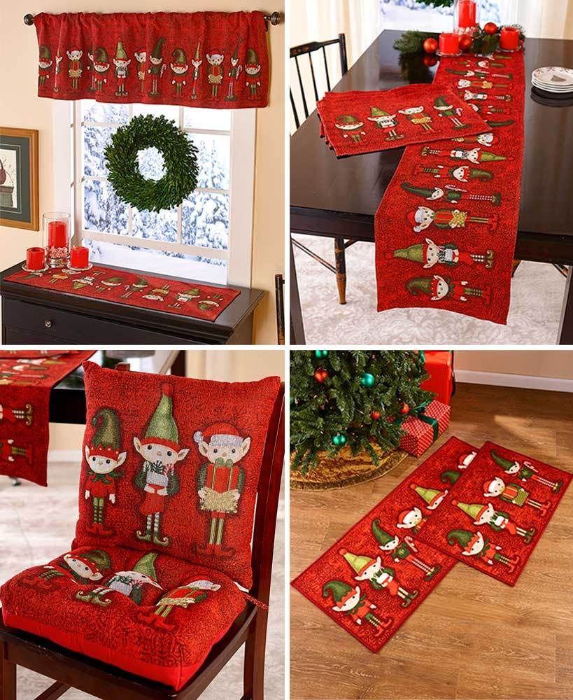 Santa's Elves Tapestry Home Collection