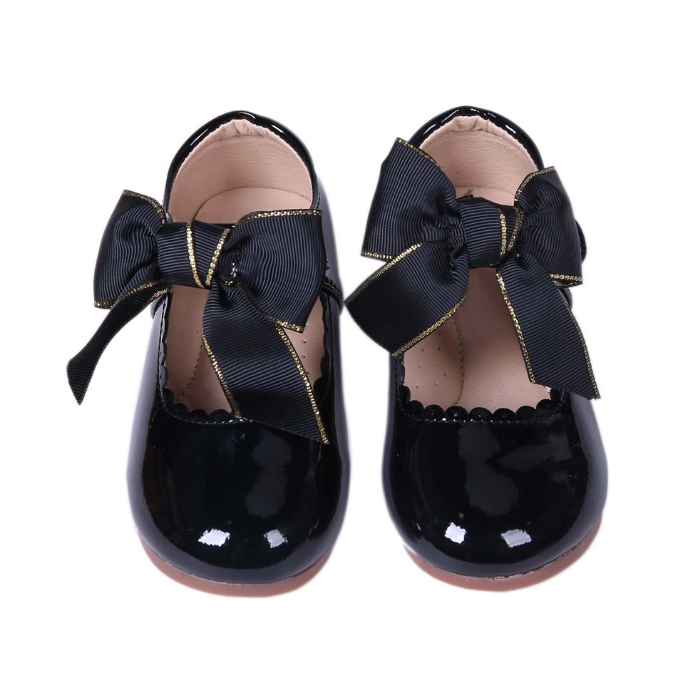 Lovely Princess Girls Shoes wholesale Baby Shoes Black Children's Shoes
