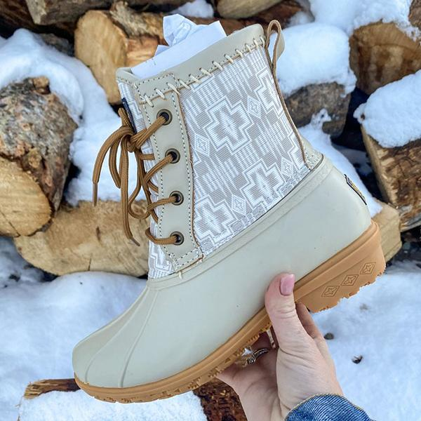 Mokoshoes Gorgeous Lined Duck Boots