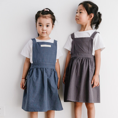【70% OFF TODAY】cotton linen apron children's painting and baking apron