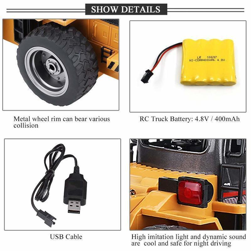 1:18 2.4G Remote Control Snow Clearer Model Vehicle RC Electric Engineering Truck Snowplows 6 Channels car toy kids