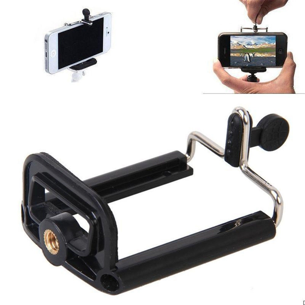 Universal Cell Phone  1/4' Mount For Tripod Stand Bracket Phone Holder Adapter Clip Camera Stand