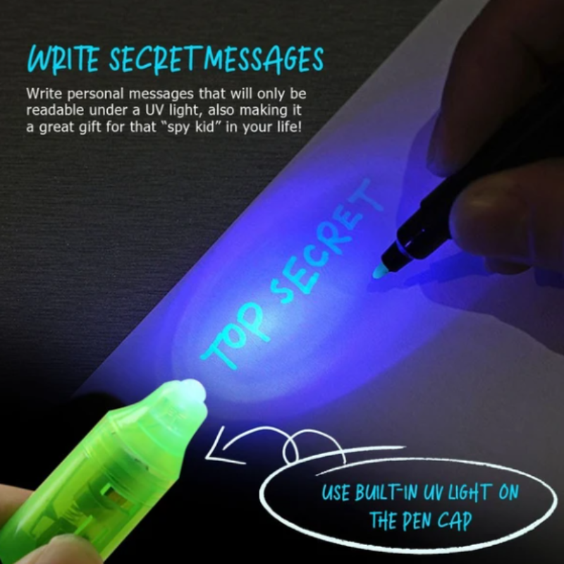UV Light Invisible Ink Pen