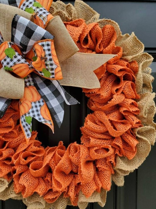 🎁Holiday Promotion🎁Rustic Fall Winter Burlap Wreath