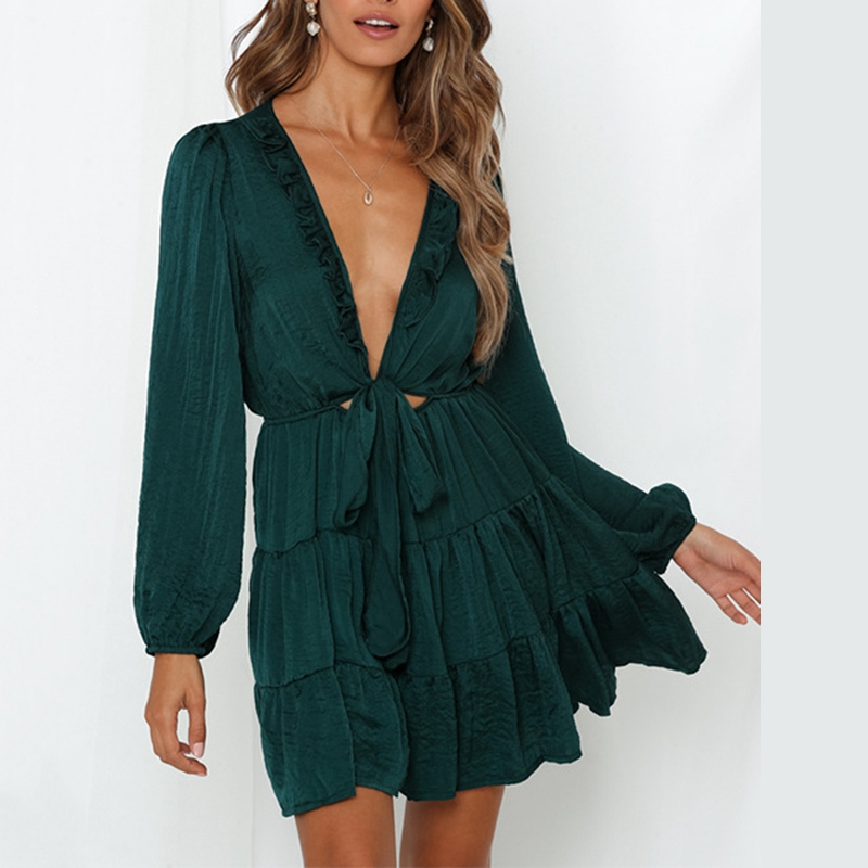Sweet Long Sleeve Mini Dress
