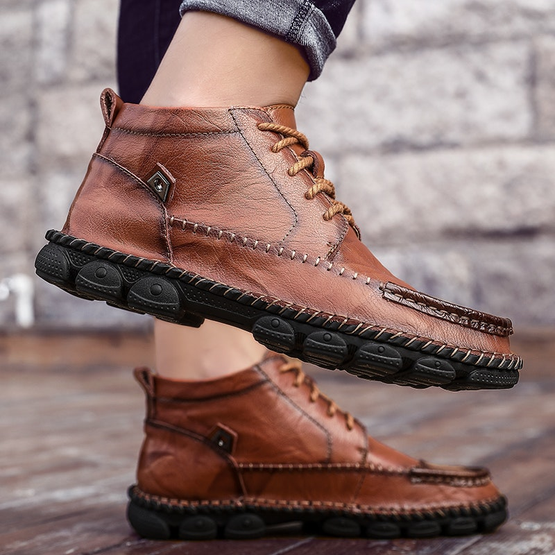 Men's Casual Handmade Leather Boots