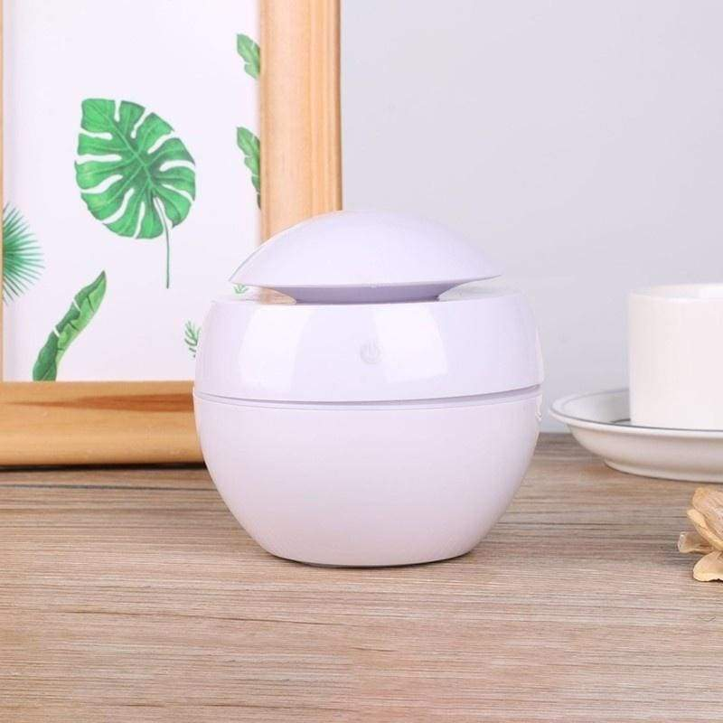 130ML Changeable Aroma Essential Oil Diffuser Mini USB Air Humidifier Portable Ultrasonic Mist Humidifier Air Purifier 7 Color LED Light Office