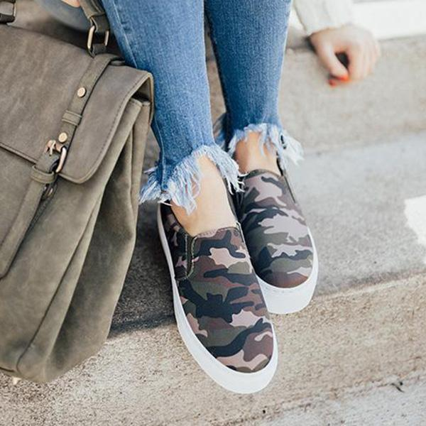 Upawear Daily Casual Comfy Leopard Slip-on Sneakers