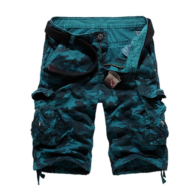 Leisure Camo Multi-Pocket Men's Shorts