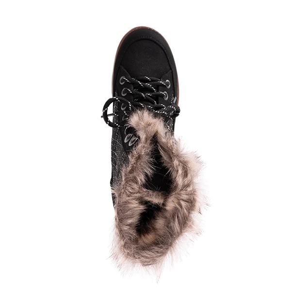 Mokoshoes Water Resistant Suede Fur Boots