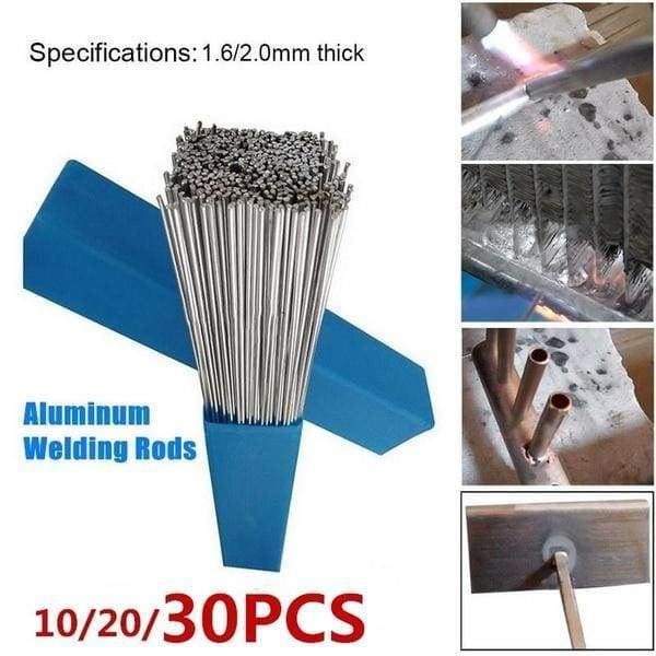 10/20/30Pcs Easy Aluminum Welding Rods Low Temperature No Need Solder Powder(Size:500mm*1.6mm/500mm*2.0mm)