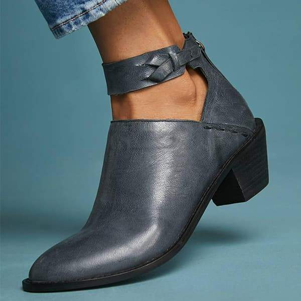 Zoeyootd Daily Zipper Chunky Boots