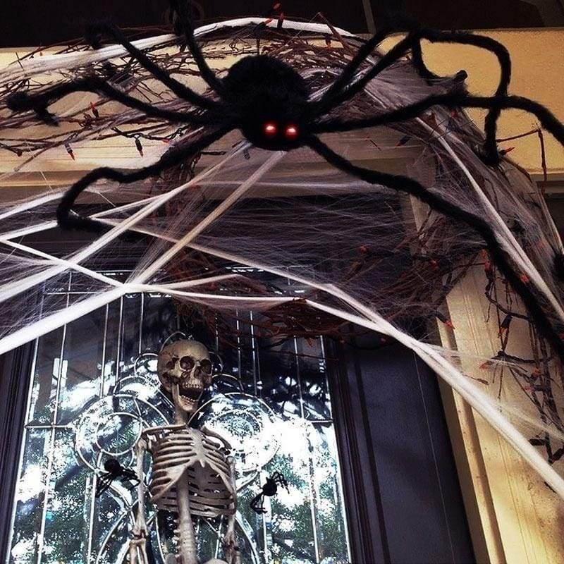 Artificial Black Spider Halloween Horror Party Festival Banquet Decoration